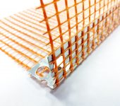 Aluminium profile with colored mesh - Orange / 10 x 10 / 2.5 m