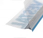 PVC drip edge bead with blue line - Brand Vestal 10 x 10 / 2.5 m