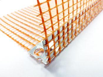 1.2 - Aluminium profile with coloured mesh - orange -OLD PIC 1